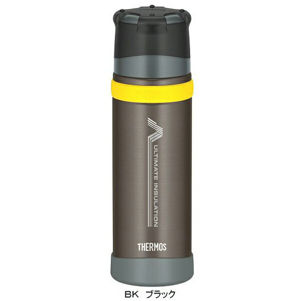★Wエントリーでポイント9倍!THERMOS(サーモス) 新製品「山専ボトル」ステンレスボトル/0.5L/ブラック(BK) FFX-500山専用ボトル マグボトル 水筒 水筒 保温・保冷ボトル アウトドアギア