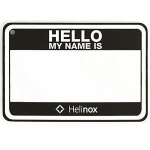 Helinox Home(ヘリノックス ホーム) Hello my name isパッチ/ブラック 19759017アウトドアギア ファニチャー用アクセサリー テーブル レジャーシート イス ブラック おうちキャンプ ベランピング