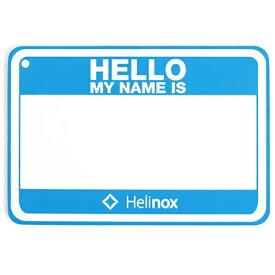 Helinox Home(ヘリノックス ホーム) Hello my name isパッチ/ブルー 19759017アウトドアギア ファニチャー用アクセサリー テーブル レジャーシート イス ブルー おうちキャンプ ベランピング