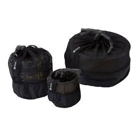 ISUKA(イスカ) メッシュ クッカーバッグ S/ブラック 371501アウトドアギア アクセサリー バーべキュー クッキング クッキング用品 クッカー ブラック おうちキャンプ ベランピング