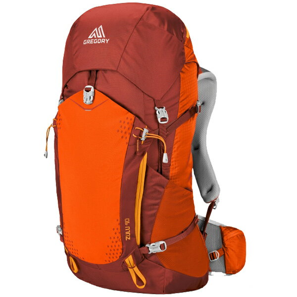 GREGORY(グレゴリー) ズール40/バーニッシュドオレンジ/S 68434オレンジ リュック バックパック バッグ トレッキングパック トレッキング40 アウトドアギア