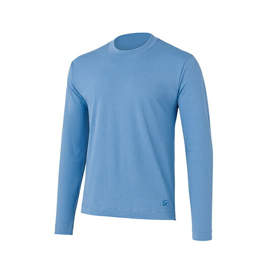 finetrack(ファイントラック) ラミースピンクールロングT MENS/LB/S FOM0201男性用 ブルー トップス メンズインナー スポーツ用インナー 男性用インナー 長袖シャツ アウトドアウェア