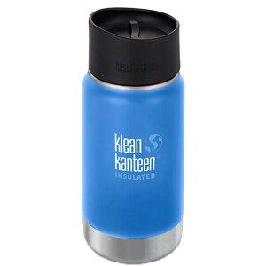 klean kanteen(クリーンカンティーン) KK ワイドインスレートCafe12ozパシフィックS 19322024アウトドアギア 保温・保冷ボトル 水筒 マグボトル ブルー おうちキャンプ ベランピング