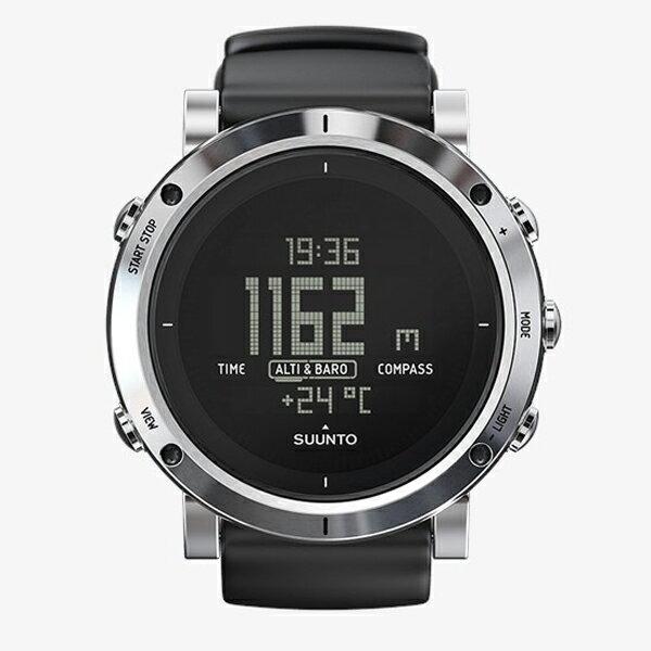 SUUNTO(スント) [正規品・2年保証]CORE BRUSHED STEEL(コア ブラッシドスティール) SS020339000男女兼用腕時計 腕時計 高機能ウォッチ アウトドアギア