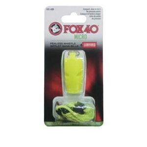 FOX40(フォックス40) マイクロホイッスル/イエロー 23254アウトドアギア 救助用 笛 アウトドア ホイッスル イエロー おうちキャンプ ベランピング