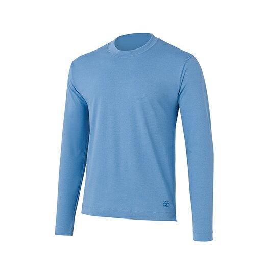 finetrack(ファイントラック) ラミースピンクールロングT MENS/LB/L FOM0201男性用 ブルー トップス メンズインナー スポーツ用インナー 男性用インナー 長袖シャツ アウトドアウェア