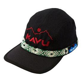 KAVU(カブー) EmbroideryStrapCap/KAVU/Black/L 19810756アウトドアウェア キャップ・ハット ウェアアクセサリー メンズウェア 帽子