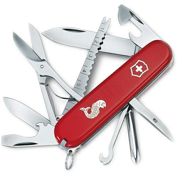 Victorinox Swiss Army(ビクトリノックス) フィッシャーマン 64911レッド 十徳ナイフ マルチツール マルチツール ツールナイフ アウトドアギア