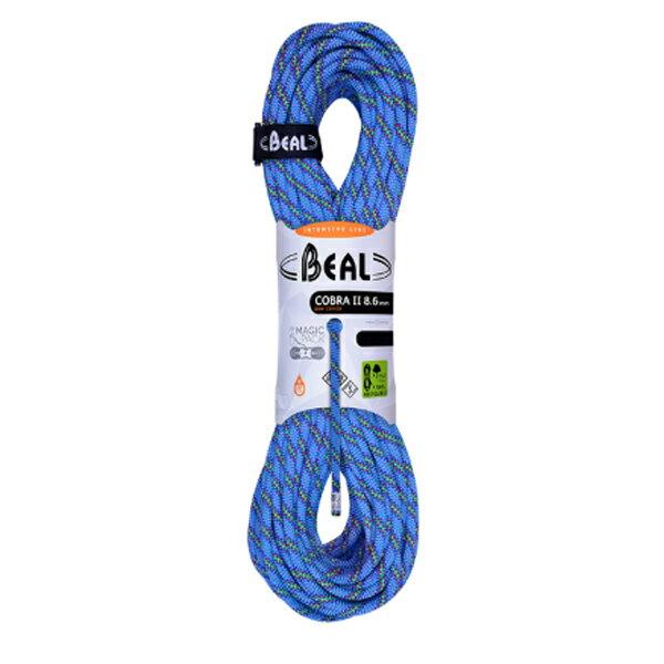BEAL(ベアール) 8.6mm コブラ2 ユニコア 50m ゴールデンドライ/ブルー BE11030ブルー アウトドア アウトドア スポーツ ロープ ダブルロープ アウトドアギア