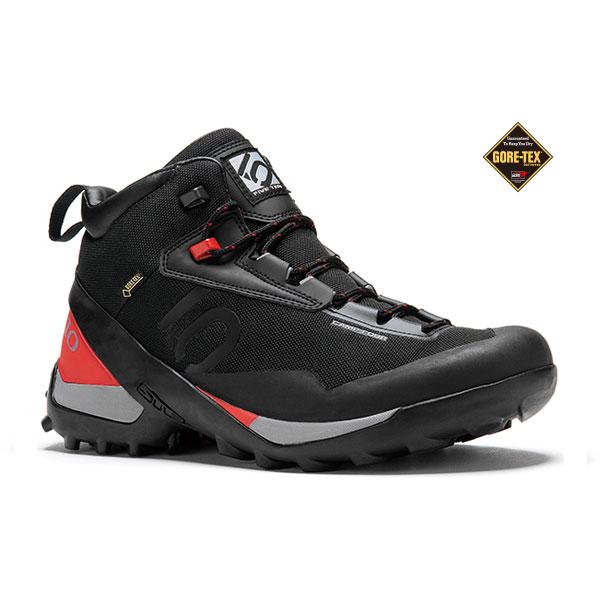 FIVETEN(ファイブテン) キャンプ4 Mid GORE-TEX (BK/RD)/8 1400455ブーツ 靴 トレッキング トレッキングシューズ ハイキング用 アウトドアギア