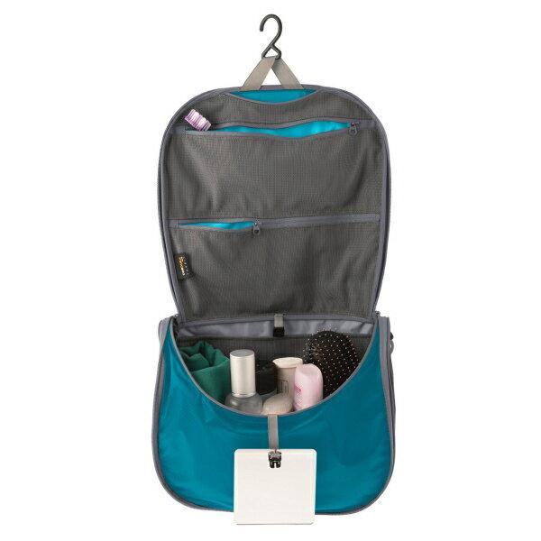 SEA TO SUMMIT(シートゥーサミット) ハンギング トイレタリーバッグ/ブルー/グレー/L ST85002ブルー アクセサリーポーチ バッグ アウトドア ポーチ、小物バッグ 化粧品、洗顔用品バッグ アウトドアギア