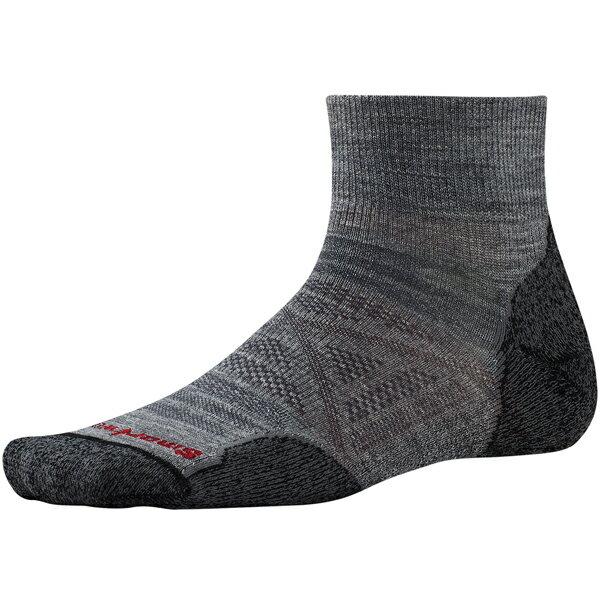 SmartWool(スマートウール) PhDアウトドアライトミニ/ミディアムグレー/L SW71051男性用 グレー 靴下 メンズウェア ウェア ソックス ウール アウトドアウェア
