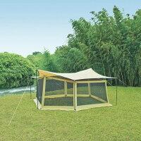 UNIFLAME(ユニフレーム)REVOタープLメッシュウォールセット681688アウトドアギアヘキサ・ウイング型タープテントおうちキャンプベランピング
