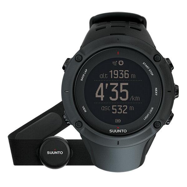 SUUNTO(スント) [正規品・2年保証]AMBIT3 PEAK HR BLACK(アンビット3ピークエイチアールブラック) SS020674000男女兼用腕時計 腕時計 高機能ウォッチ アウトドアギア
