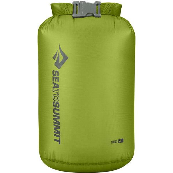 SEA TO SUMMIT(シートゥーサミット) ウルトラシルナノ ドライサック/ライム/2L ST83002グリーン ダイビングバッグ シュノーケリング ダイビング 防水バッグ・マップケース ドライバッグ アウトドアギア