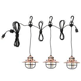 Barebones Living(ベアーボーンズリビング) エジソンストリングライトLEDカッパー 20230007アウトドアギア LEDチェーンライト チェーンライト 照明器具 インテリアライト LEDイルミネーション おうちキャンプ ベランピング