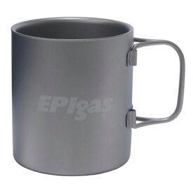 EPI(イーピーアイ) ダブルウォール チタンマグ T-8104アウトドアギア テーブルウェア(カップ) テーブルウェア アウトドア キャンプ用食器 カップ グラファイト・チタン おうちキャンプ ベランピング