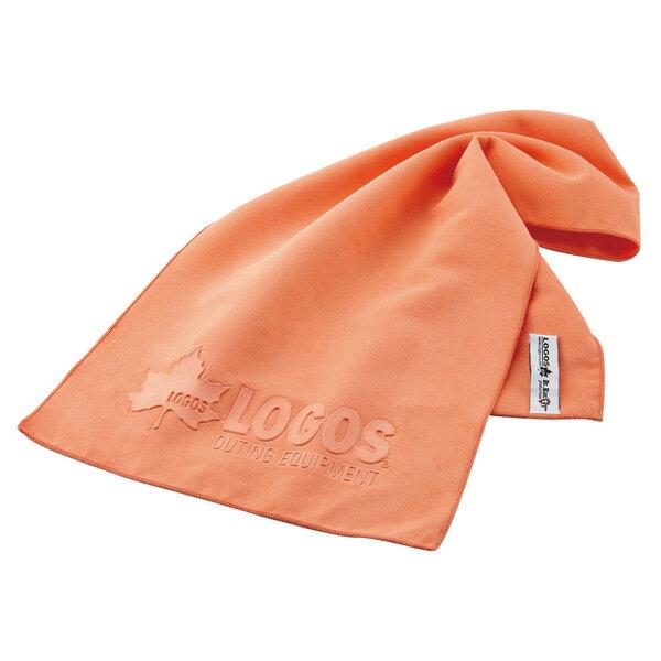OUTDOOR LOGOS(ロゴス) ひんやりドライタオル(オレンジ) 81690152オレンジ スポーツタオル アクセサリー スポーツウェア アウトドアギア
