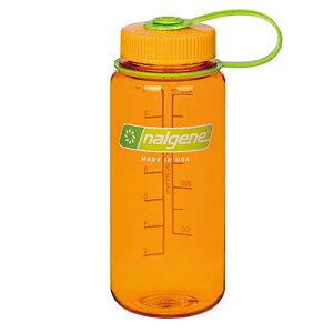 ★エントリーでポイント10倍!NALGENE(ナルゲン) ナルゲン広口0.5L/クレメンタイン 91422アウトドアギア 樹脂製ボトル 水筒 マグボトル オレンジ