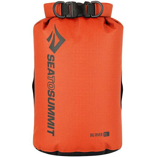 SEA TO SUMMIT(シートゥーサミット) ビッグリバー ドライバッグ/オレンジ/8L ST83063オレンジ ダイビングバッグ シュノーケリング ダイビング 防水バッグ・マップケース ドライバッグ アウトドアギア