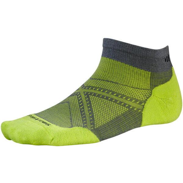 SmartWool(スマートウール) PhDランライトエリートローカット/スマートウールグリーン/M SW70504男性用 グリーン 靴下 メンズウェア ウェア ソックス ウール アウトドアウェア