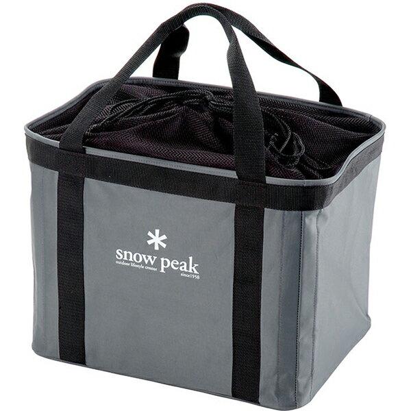 snow peak(スノーピーク) ギアコンテナ UG-080グレー クッキング用品 バーべキュー アウトドア クッキング用品収納バッグ クッキング用品収納バッグ アウトドアギア