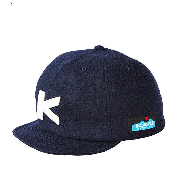 KAVU(カブー) BaseBallCap(Wool)/Navy/1SZ 19820318ネイビー 帽子 メンズウェア ウェア ウェアアクセサリー キャップ・ハット アウトドアウェア