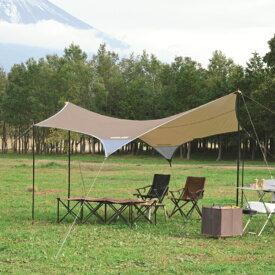 UNIFLAME(ユニフレーム) REVOタープ2(M)TAN 681800アウトドアギア ヘキサ・ウイング型タープ テント ブラウン おうちキャンプ ベランピング