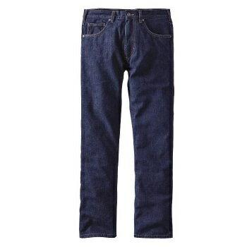 ★エントリーでポイント5倍!patagonia(パタゴニア) Ms Flannel Lined Straight Fit Jeans Reg/DDNM/32 56170男性用 ブルー ロングパンツ メンズウェア ウェア ロングパンツ男性用 アウトドアウェア