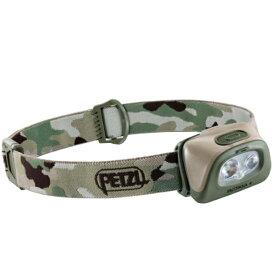 PETZL(ペツル) タクティカ+ カモ E089EA01アウトドアギア LEDタイプ ランタン ヘッドライト カモフラージュ おうちキャンプ ベランピング