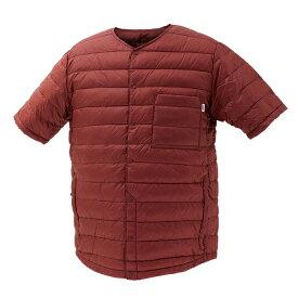 NANGA(ナンガ) ダウンTシャツ/BUR/L DT108男性用 パープル カットソー Tシャツ トップス 半袖Tシャツ 半袖Tシャツ男性用 アウトドアウェア