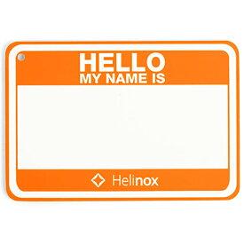 Helinox Home(ヘリノックス ホーム) Hello my name isパッチHO 19759017オレンジ イス レジャーシート テーブル ファニチャー用アクセサリー アクセサリー アウトドアギア
