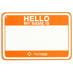 Helinox Home(ヘリノックス ホーム) Hello my name isパッチ/ハンターオレンジ 19759017アウトドアギア ファニチャー用アクセサリー テーブル レジャーシート イス オレンジ おうちキャンプ ベランピン