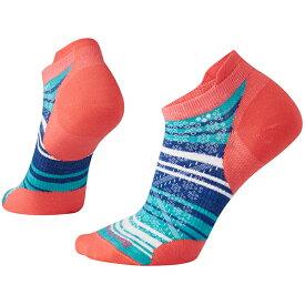 SmartWool(スマートウール) Ws PhDランウルトラライトストライプマイクロ/ブライトコーラル/S SW70522アウトドアウェア 女性用ソックス ソックス レディースウェア 靴下 ピンク