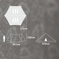 NEMO(ニーモ・イクイップメント)ヘキサライトエレメント6PNM-HEX-6P-ELグレー六人用(6人用)タープタープテントシェルターシェルターアウトドアギア