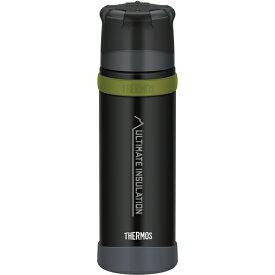 THERMOS(サーモス) 山専ステンレスボトル マットブラック(MTBK) 0.5L FFX-501アウトドアギア ステンレスボトル 水筒 マグボトル ブラック おうちキャンプ ベランピング