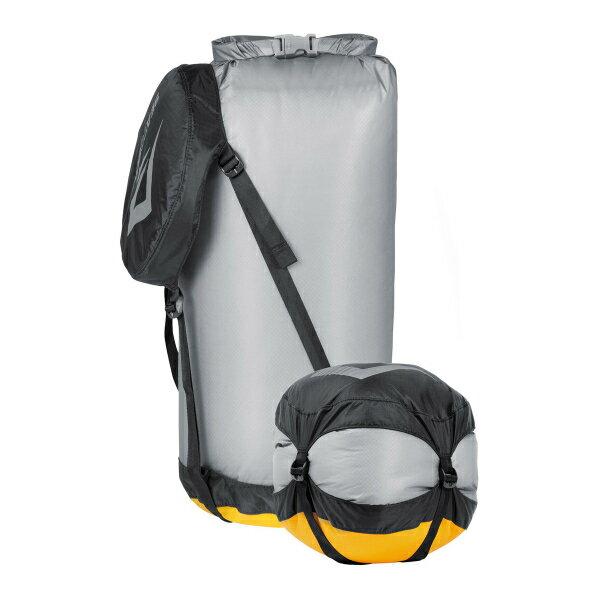 SEA TO SUMMIT(シートゥーサミット) ウルトラシル コンプレッション ドライサック/グレー/M ST83364グレー バッグ アウトドア アウトドア 防水バッグ・マップケース ドライバッグ アウトドアギア