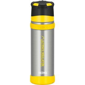 THERMOS(サーモス) 山専ステンレスボトル クリアステンレス(CS) 0.5L FFX-501アウトドアギア ステンレスボトル 水筒 マグボトル イエロー おうちキャンプ ベランピング