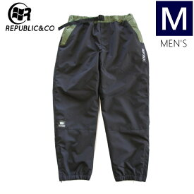 ◆ 20-21 REPUBLIC HYPE TRACKSUIT PNT BLACK Mサイズ リパブリック スノーボード ストリートウェア パンツ ライトウェア トラックスーツパンツ スポーツMIX 日本正規品