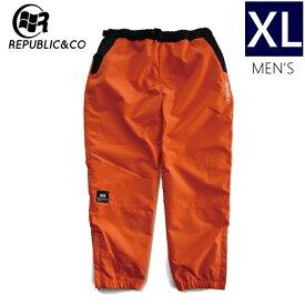 ◆ 20-21 REPUBLIC HYPE TRACKSUIT PNT ORANGE XLサイズ リパブリック スノーボード ストリートウェア パンツ ライトウェア トラックスーツパンツ スポーツMIX 日本正規品