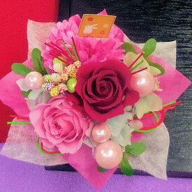 プリザーブドフラワー「花うさぎ 桜花(ピンク・ローズピンク)」 誕生日 和風 和プリ あす楽 枯れないお花 クリアケース 記念日 結婚祝い お見舞い ホワイトデー 母の日 父の日