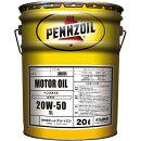 ペンズオイルモーターオイル20W-50SL鉱物油20L送料無料PENNZOILMOTOROIL