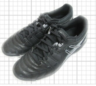 ASIC 死亡掖 6 K 黑色 / 黑色足球鞋室内 TST215