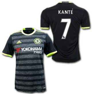 Chelsea away 16 / 17 (black / gray) # 7 KANTE ': singing-adidas