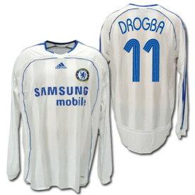 【CL仕様】 チェルシー 06/07  アウェイ(白) 選手用長袖 #11 DROGBA ディディエ・ドログバ adidas