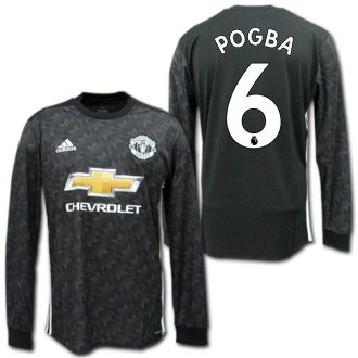 finest selection 1e383 10699 Product made by Manchester United 17/18 away (black) long sleeves #6 POGBA  Paul Pogba Adidas