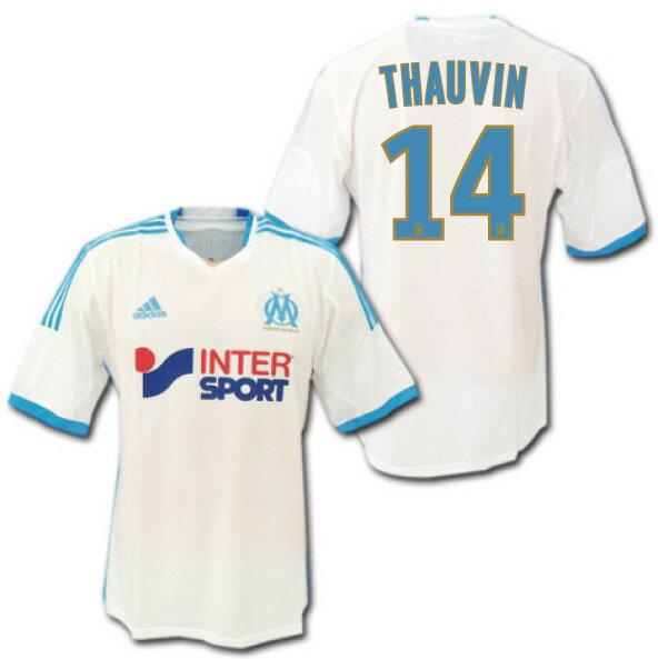 オリンピック・マルセイユ 13/14 ホーム (白) #14 THAUVIN トヴァン adidas