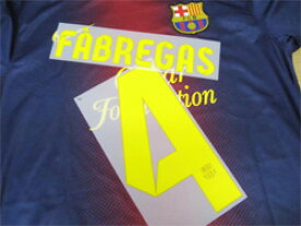 FCバルセロナ 12/13 オフィシャルナンバー【#4 FABREGAS】 単品販売!