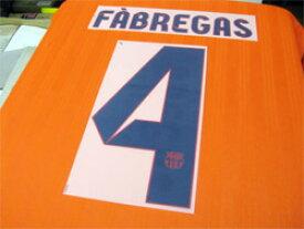 FCバルセロナ 12/13 アウェイ用 オフィシャルナンバー【#4 FABREGAS】 単品販売!