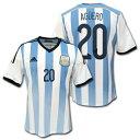 アルゼンチン代表 ホーム 2014 #20 AGUERO クン・アグエロ adidas